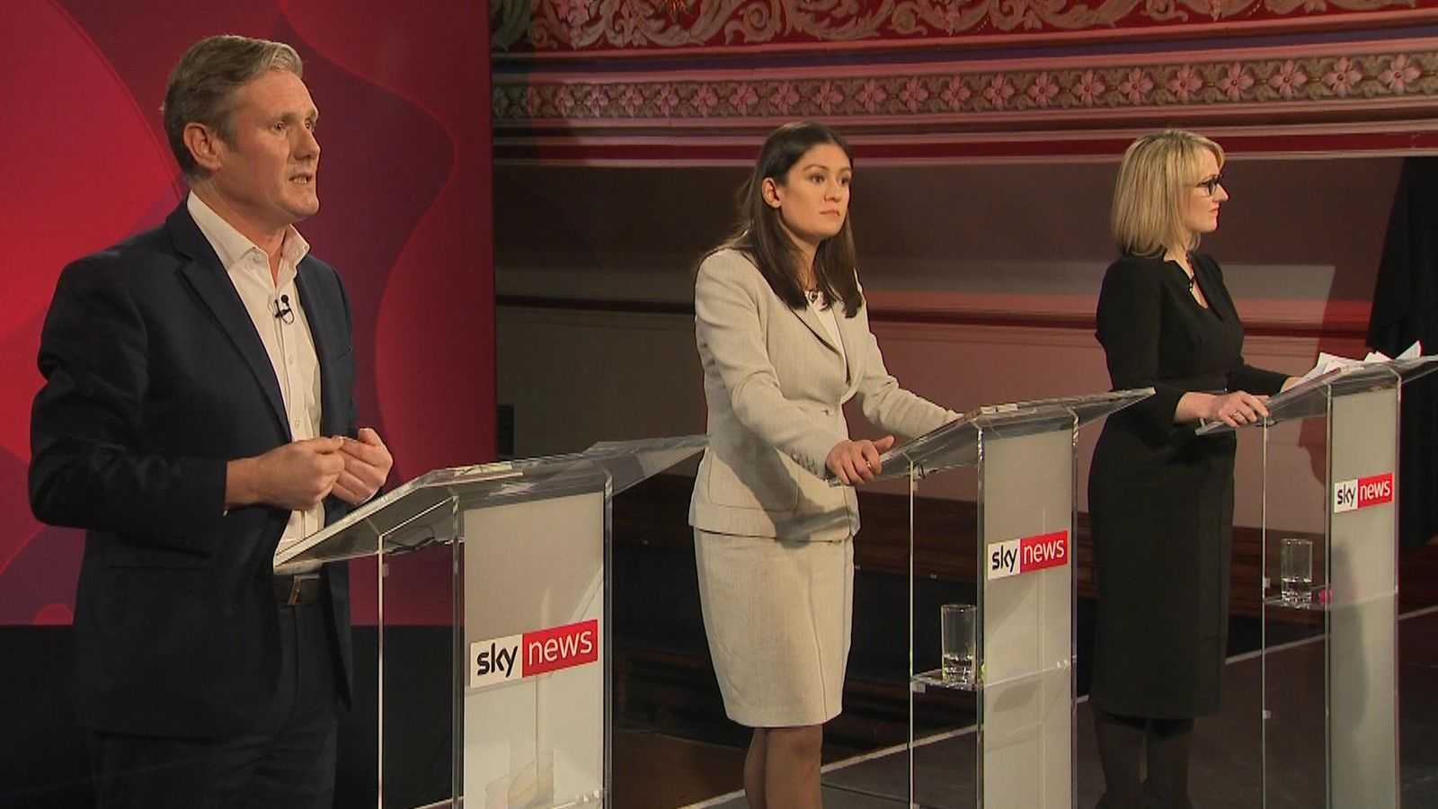 Labour leadership candidates turn on each other over antisemitism action in Sky News debate