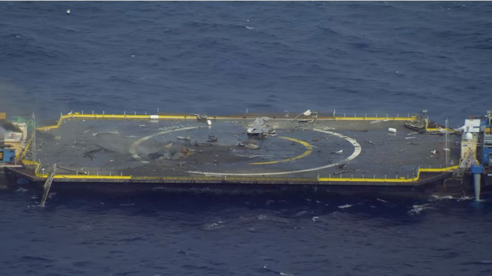 SpaceX rocket crashes into sea after missing landing pad