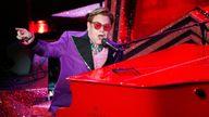 Elton John performed at the Oscars