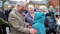 The Prince of Wales chatted with residents of Pontypridd