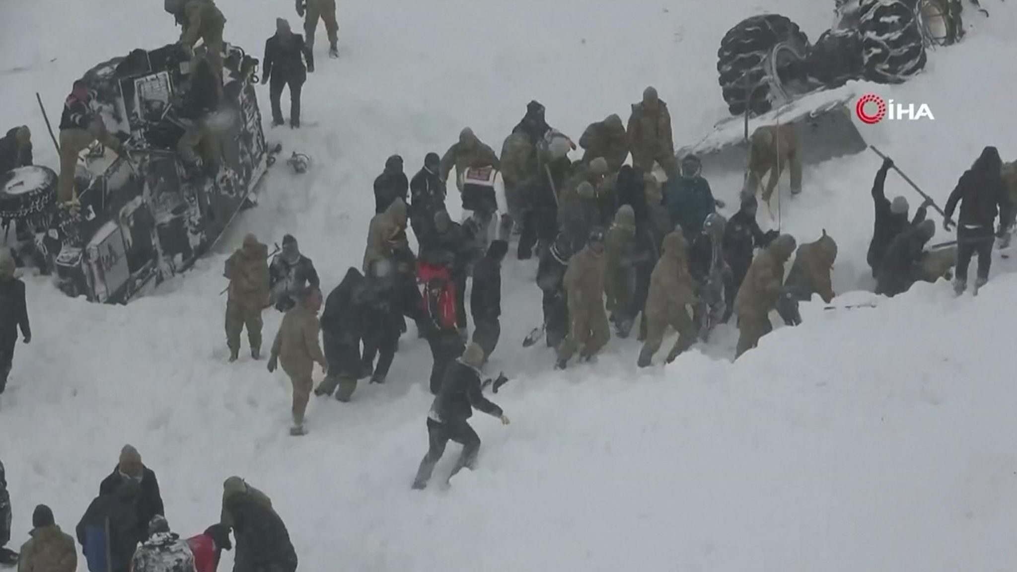 Turkey avalanche: 23 killed as frantic search under way for people trapped under snow