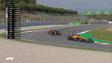 Sainz and Verstappen battle