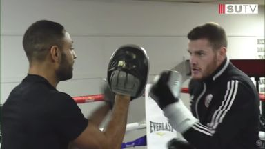 Lundstram, O'Connell train with Kell Brook