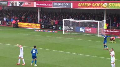 Cheltenham keeper's horror kick!