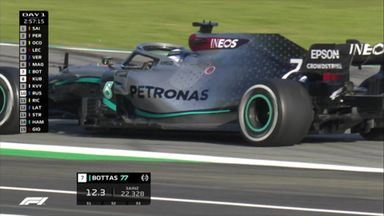 New Mercedes on the track