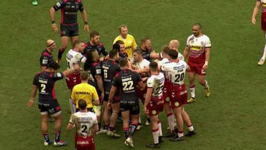 Tempers flare in Wigan