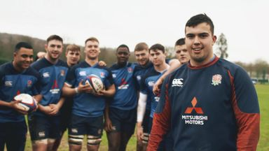 England U20s take on Drop Goal Challenge!
