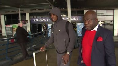 Ighalo arrives in Manchester