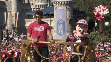 Mahomes visits Disney World!