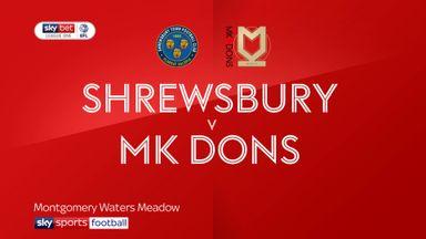 Shrewsbury 1-1 MK Dons