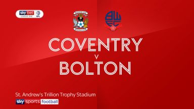 Coventry 2-1 Bolton