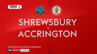 Shrewsbury 0-2 Accrington
