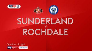 Sunderland 3-0 Rochdale