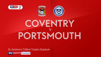 Coventry 1-0 Portsmouth