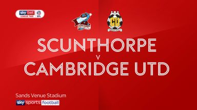 Scunthorpe 0-2 Cambridge