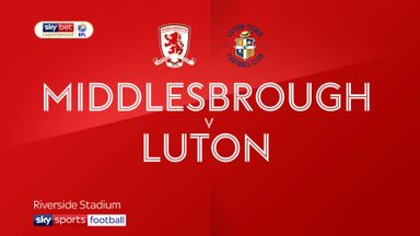 Middlesbrough 0-1 Luton