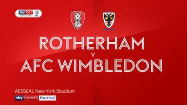 Rotherham 2-2 AFC Wimbledon