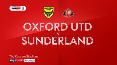 Oxford Utd 0-1 Sunderland