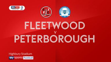 Fleetwood 2-1 Peterborough