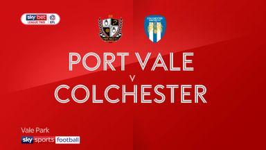 Port Vale 3-0 Colchester