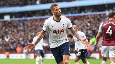 HT: Aston Villa 1-2 Tottenham
