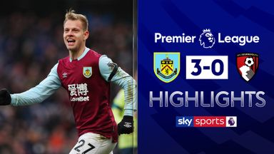 Burnley put three past Bournemouth
