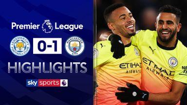 Jesus goal beats Leicester
