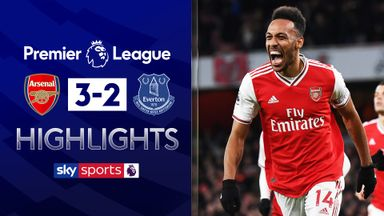 Aubameyang double sinks Everton
