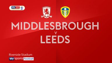 Middlesbrough 0-1 Leeds
