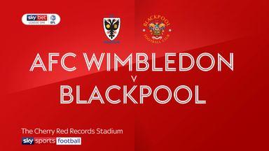 AFC Wimbledon 0-0 Blackpool