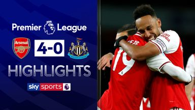 Arsenal cruise to victory over Newcastle
