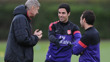 Arteta: Wenger helping me feel calmer