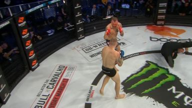 Ref takes a tumble in the cage!