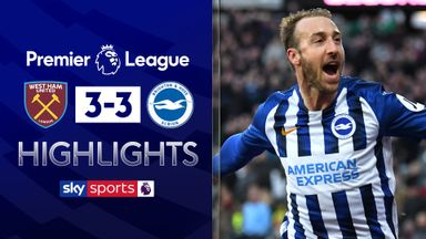 Brighton earn point in six-goal thriller