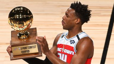 Hield tops Booker to win 3-Point Contest