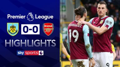 Burnley rue missed chances in Arsenal draw