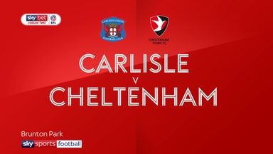 Carlisle 0-1 Cheltenham