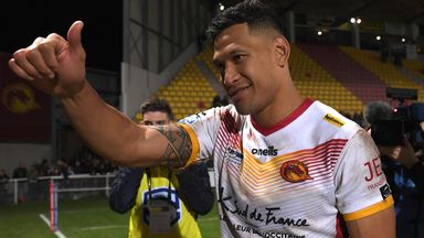 Controversy on Folau Catalans debut