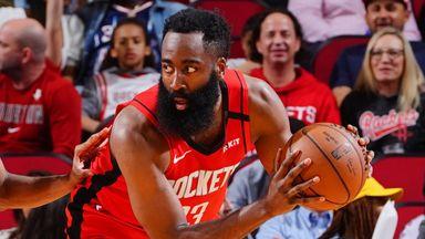 Harden lights up Knicks for 37