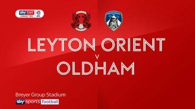 Leyton Orient 2-2 Oldham