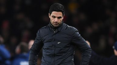 Arteta: Defeat hurts big time