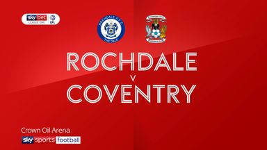 Rochdale 1-2 Coventry