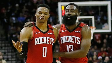 Russ, Harden combine for 63 points