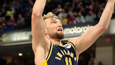 Sabonis' double-double downs Hornets