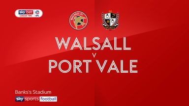 Walsall 2-2 Port Vale