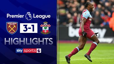 West Ham put three past Saints