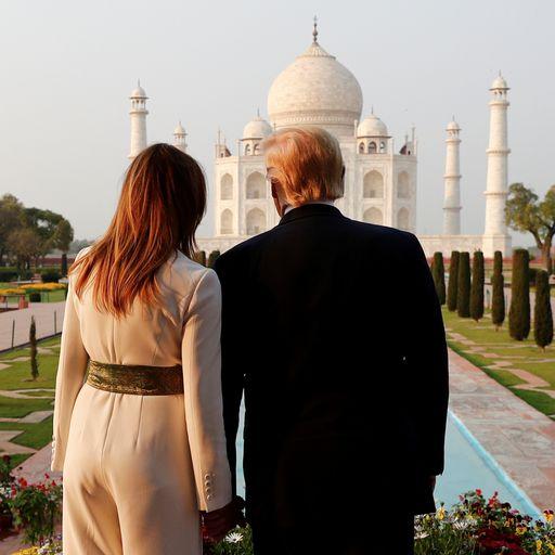 Donald Trump visits Taj Mahal after tough talk