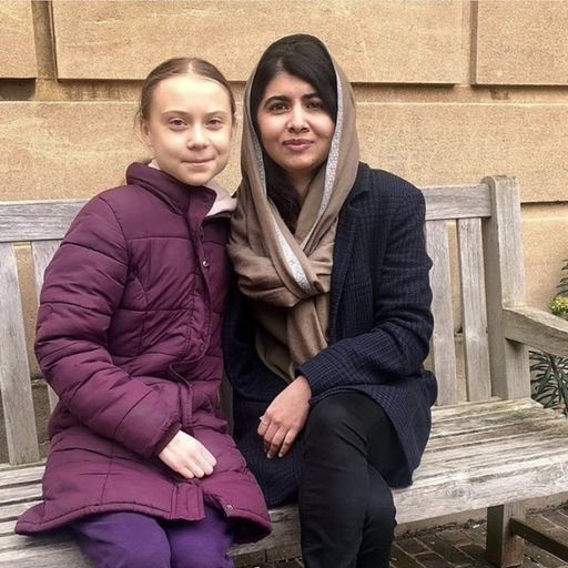 Greta Thunberg and Malala Yousafzai meet at Oxford University
