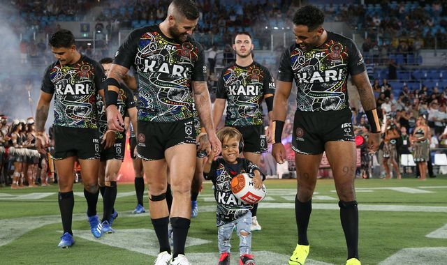 Quaden Bayles: Bullied boy leads out all-star rugby league team in Australia