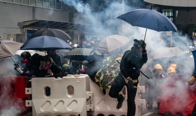 Donald Trump says US will 'react strongly' if China imposes new Hong Kong security law
